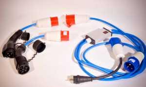 Amper 32A Bi Power - зарядная станция для электромобиля с переходником на домашнюю розетку